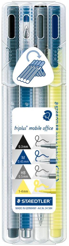Staedtler Канцелярский набор Triplus Mobil 4 предмета -  Канцелярские наборы