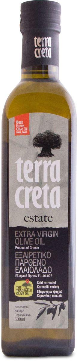 Terra Creta Extra Virgin оливковое масло, 500 млУТ000000493Оливковое масло с прекрасным фруктовым ароматом, с оттенком груши и миндаля, присущий сорту Коронеики, используемому для производства этого оливкового масла.