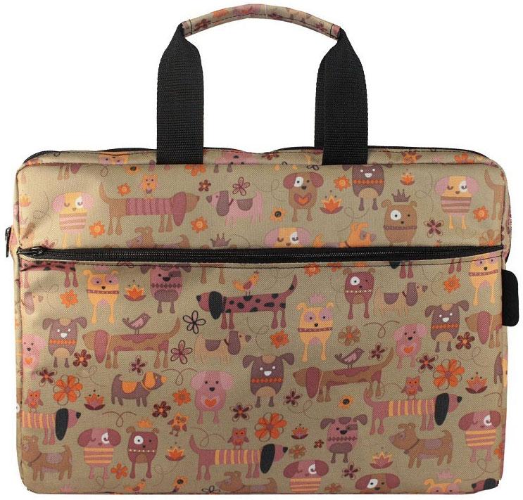Vivacase Doggy, Brown сумка для ноутбука 15,6УТ000001638Яркая сумка Vivacase Doggy для ноутбуков c диагональю 15,6 подойдет для модных молодых людей. Модель Doggy выполнена из высококачественного материала Оксфорд со специальной водоотталкивающей пропиткой, очень прочного и устойчивого к истиранию. Ей не страшны ни дождь, ни грязь. Если сумка все-таки испачкается, ее достаточно протереть влажной тряпочкой, чтобы избавиться от пятен.Основу сумки для ноутбука составляет специальный пористый противоударный материал двойного сложения, который надежно защитит ваш компьютер от механических повреждений. При этом сумка очень легкая, тонкая и эргономичная. Вы обязательно оцените ее удобство при ношении. Ручки сумки широкие и мягкие, не натирают ладони. К сумке прилагается наплечный ремень.Вместительный внешний карман на молнии прекрасно подойдет для ношения аксессуаров и документов формата А4.