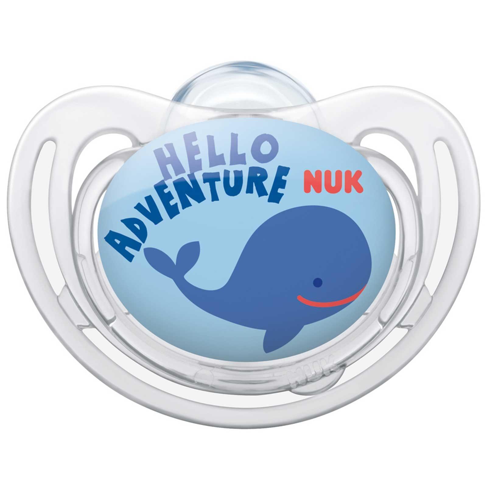 NUK Пустышка силиконовая для сна Freestyle. Кит, от 18 до 36 месяцев, ортодонтическая соска пустышка nuk night & day от 18 до 36 месяцев цвет салатовый синий