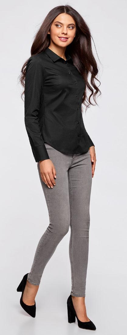 Блузка женская oodji Ultra, цвет: черный. 11403227B/14885/2900N. Размер 42-170 (48-170) oodji 11902047 4 14885 7079e