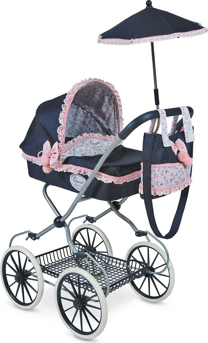DeCuevas Коляска для куклы Романтик с сумкой и зонтиком 81 см коляска i