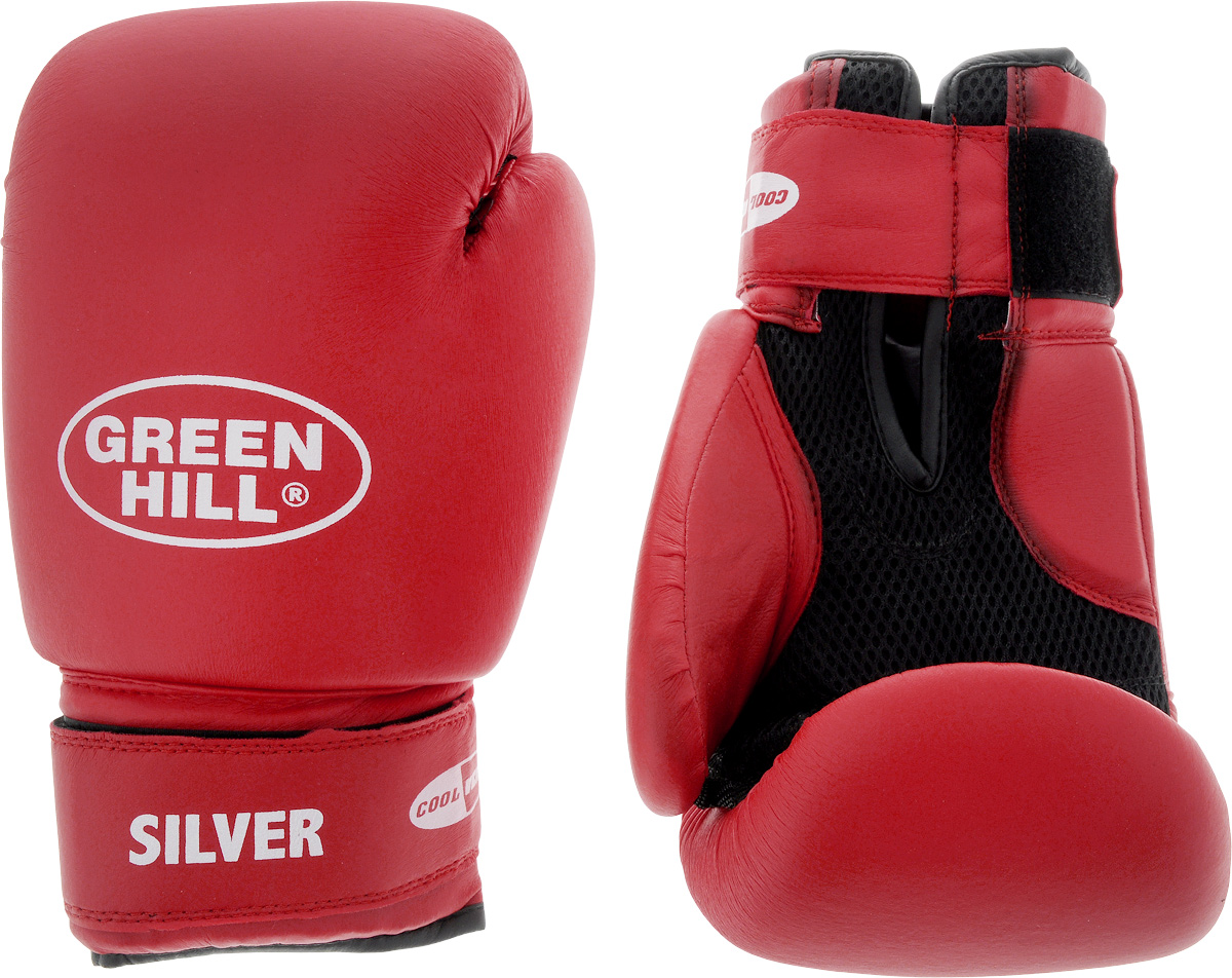 Боксерские перчатки Green Hill Silver, цвет: красный, черный. Размер 12 унций. BGS-2039BGS-2039Боксерские перчатки Green Hill Silver подойдут для легких спаррингов и тренировок. Верх выполнен из высококачественной искусственной кожи, наполнитель - из вспененного полимера. Материал на ладони выполнен по технологии, которая позволяет руке дышать. Манжет на липучке способствует быстрому и удобному надеванию перчаток, плотно фиксирует перчатки на руке.