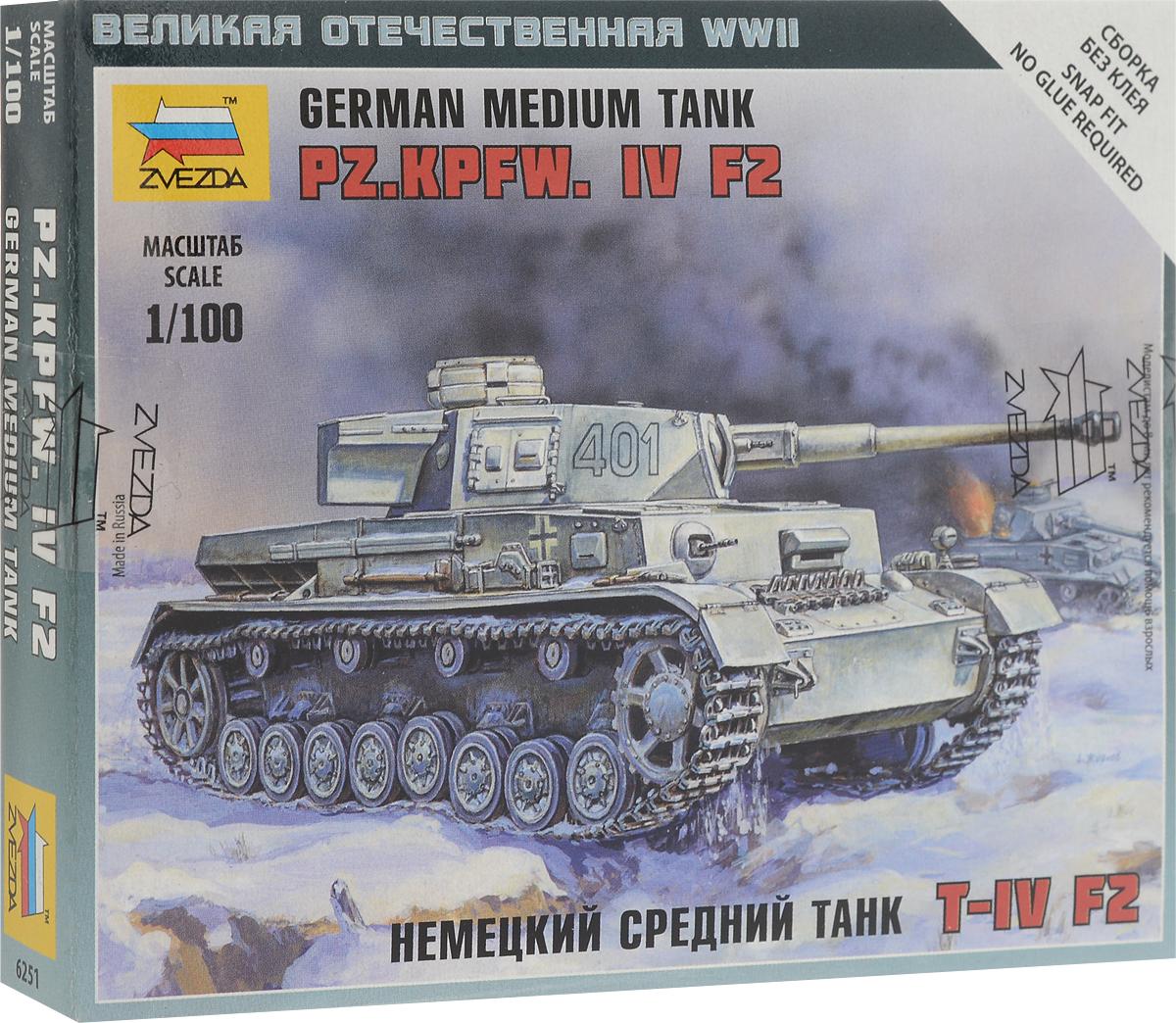 Звезда Сборная модель Немецкий средний танк T-IV F2