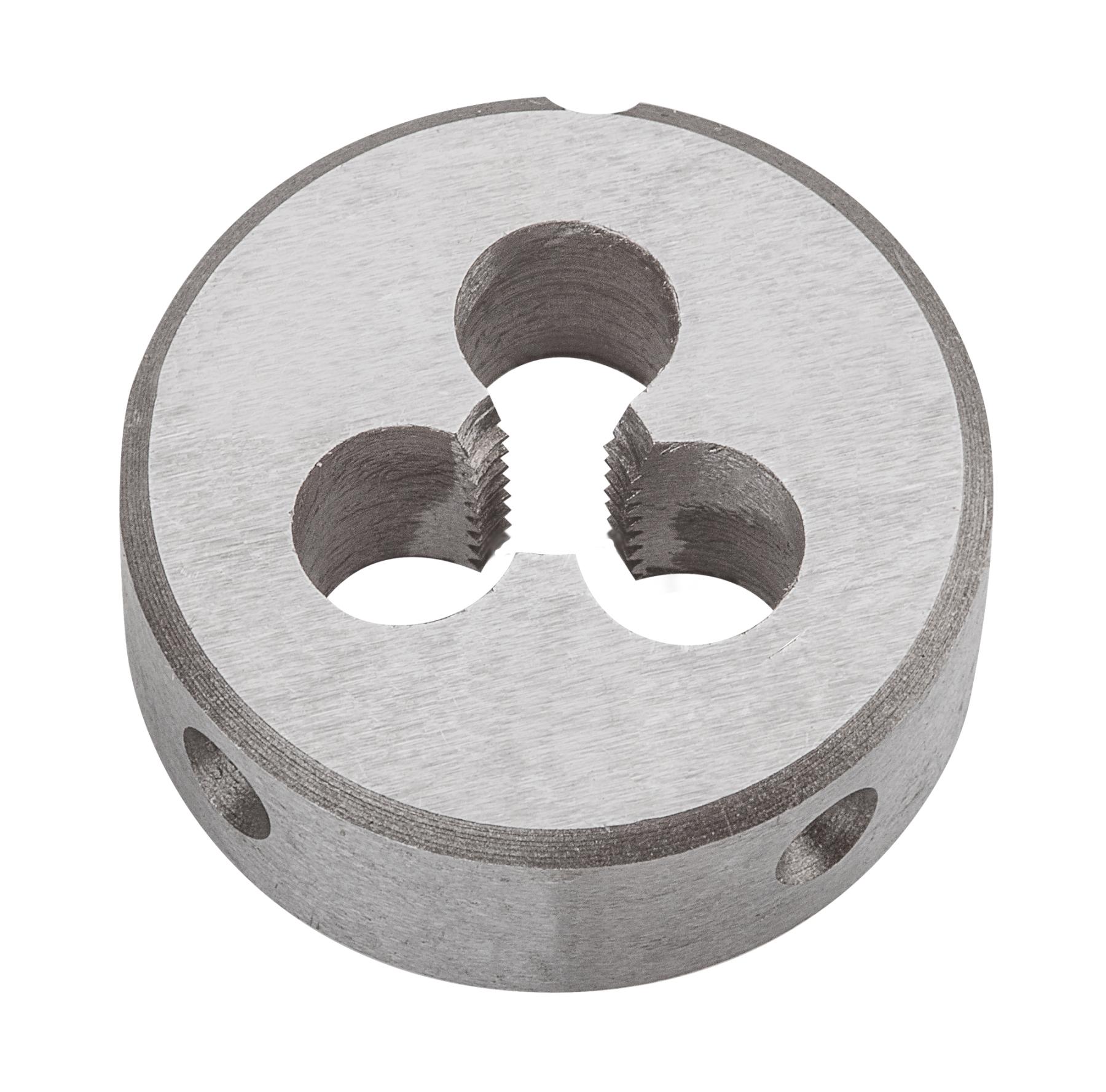 Плашка вольфрамовая Topex, М4, 25 х 9 мм14A304Плашки вольфрамовые Торех используются для нарезания метрической резьбы. Характеристики: Материал: металл. Шаг резьбы: М4. Размеры плашки: 2,5 см х 0,9 см. Размеры упаковки:9 см х 5 см х 1,5 см.