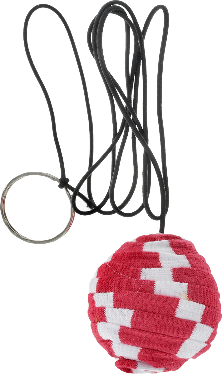 Игрушка для кошек GLG Мячик на резинке с кольцом, цвет: красный, белыйGLG051_красный, белыйИгрушка для кошек GLG выполнена в виде мячика на резинке. Мячик выполнен из пластика и обмотан текстилем, чтобы не повредить когти питомца. Кольцо позволяет удобно держать игрушку. Дразнилка превосходно развивает охотничьи инстинкты вашей кошки, а также моторику передних лап.Такая игрушка порадует вашего любимца, а вам доставит массу приятных эмоций, ведь наблюдать за игрой всегда интересно и приятно.Диаметр мячика: 4,5 см.