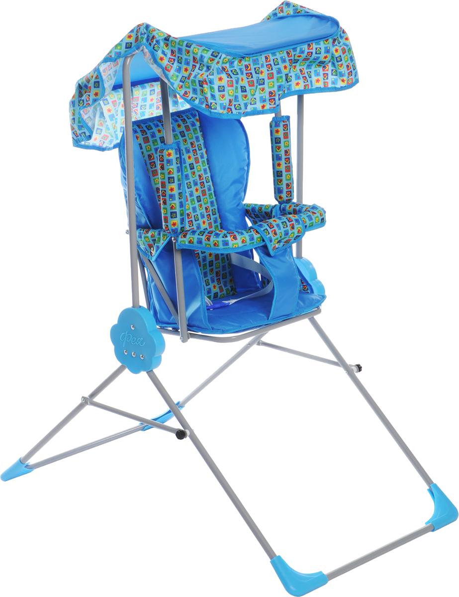 Фея Качели детские Малыш с тентом цвет голубой - Игры на открытом воздухе