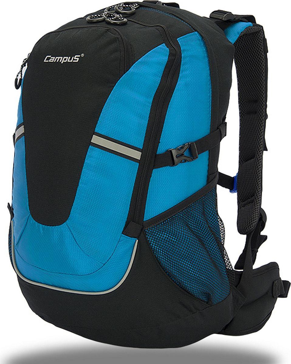 Рюкзак туристический Campus  Horton 2 , цвет: черный, синий, 30 л. 5038025132234 - Туристические рюкзаки