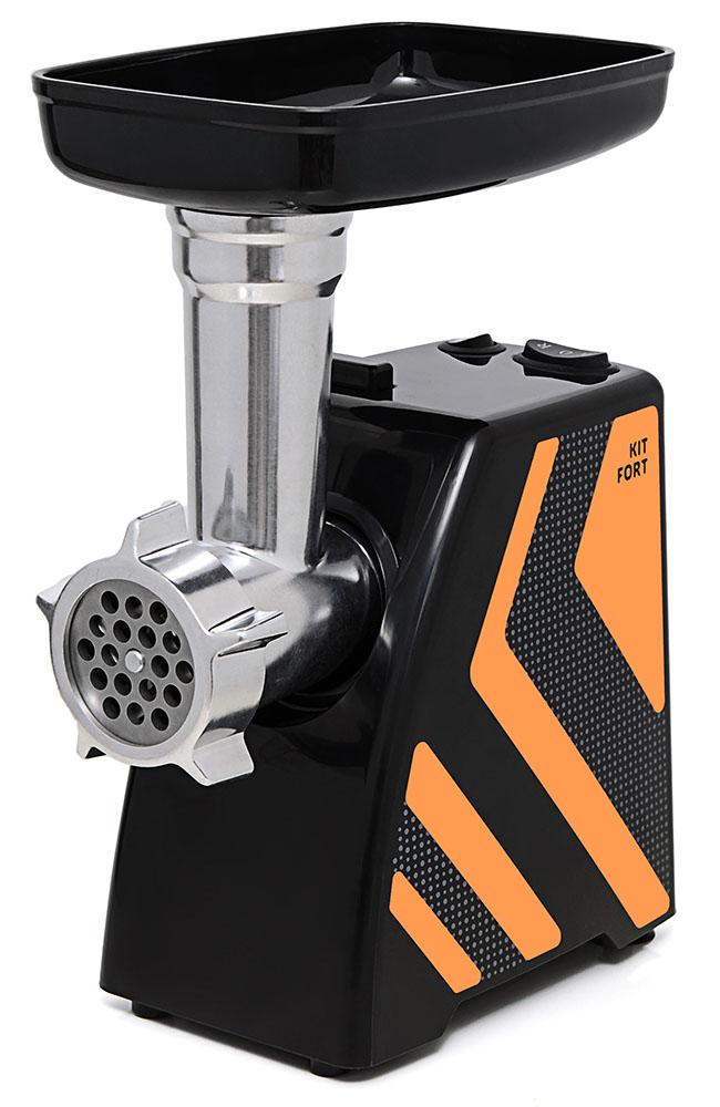 Kitfort КТ-2101-3 мясорубкаКТ-2101-3Мясорубка Kitfort KT-2101 Carnivora оснащена мотором высокой мощности в прочном пластиковом корпусе. Цвето-фактурное решение корпуса модели разработано в Студии Артемия Лебедева.Мясорубка имеет одну скорость работы и функцию реверса. В комплект входят решетки для изготовления фарша с отверстиями 5 и 7 мм, а также специальные насадки для колбас и кеббе. Корпус и лоток мясорубки легко мыть и чистить. Эта модель компактна и удобна в использовании, а ее уникальный внешний дизайн украсит любую кухню. Класс защиты от поражения электрическим током: II.