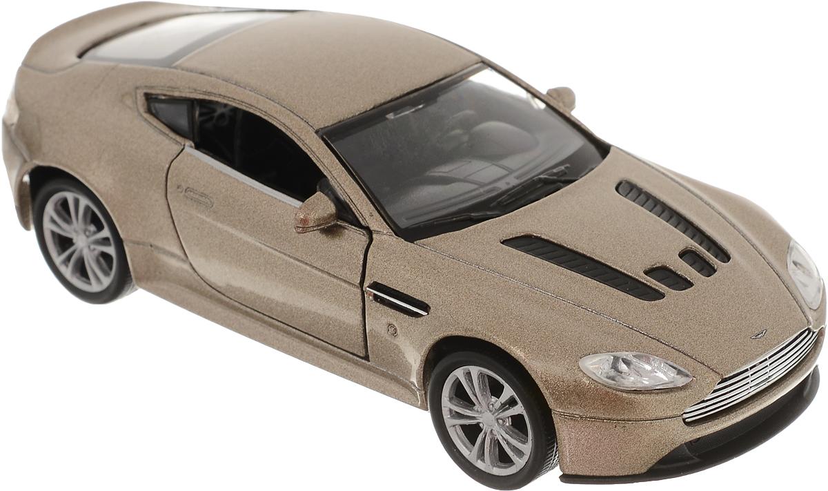 Welly Модель автомобиля Aston Martin V12 Vantage цвет золотистый welly aston martin v12 vantage 1 34 39