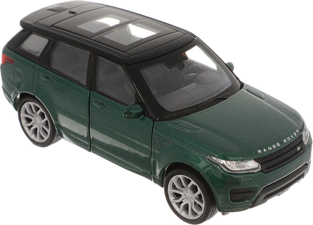 Welly Модель автомобиля Land Rover Range Rover Sport цвет зеленый welly модель автомобиля audi q7 цвет серый