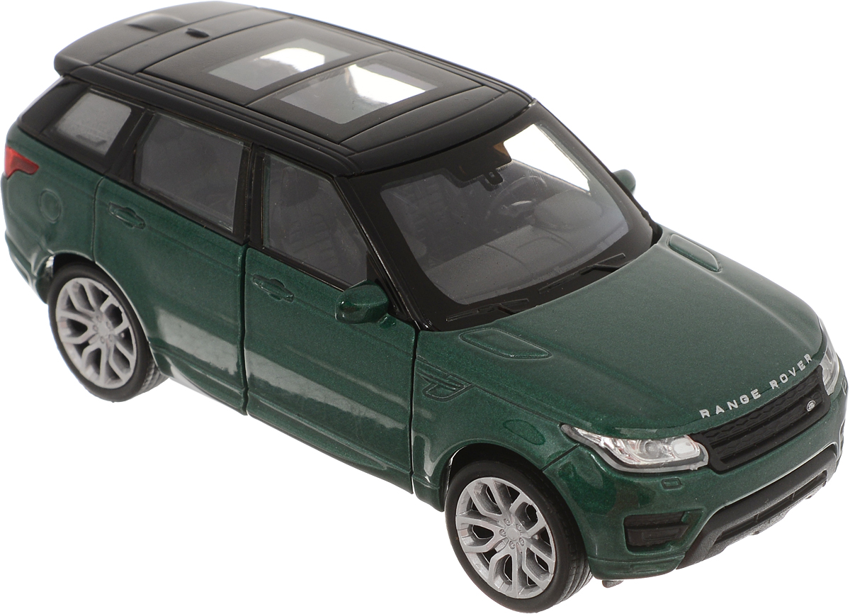 Welly Модель автомобиля Land Rover Range Rover Sport цвет зеленый игрушка pitstop land rover range rover sport black ps 554007 bl