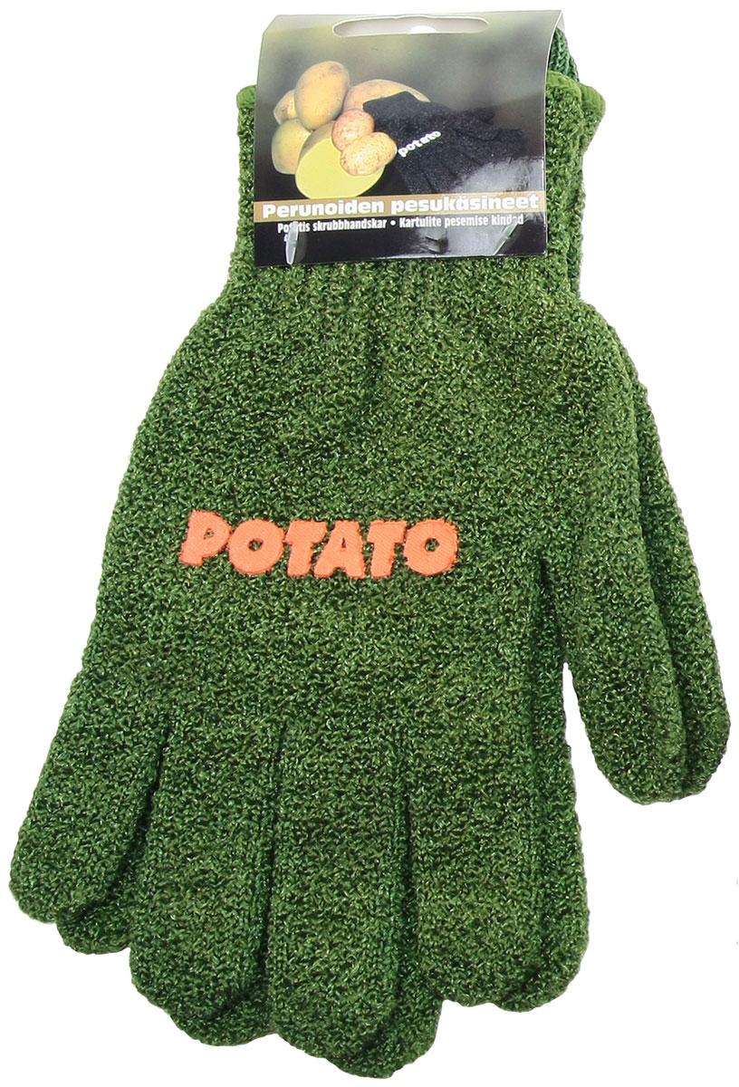 Перчатки хозяйственные Natura, для чистки молодого картофеля и овощей, цвет: зеленый182327зел,зеленыйПерчатки Natura предназначены для чистки молодого картофеля, моркови и других овощей. Перчатки не разрушают структуру овощей, сберегая все микроэлементы и витамины. Перчатки для чистки овощей имеет рельефную поверхность, которая воздействует на овощи как терка, но не окисляют продукт. Достаточно надеть перчатки и вымыть овощи под проточной водой, тщательно потерев его круговыми движениями. Таким образом, рутинное занятие превращается в легкий и быстрый процесс, а руки при этом остаются чистыми и ухоженными. Перчатки подходят как женщинам, так и мужчинам (универсальный размер). Легко стираются. Материал: 90% нейлон, 10% спандекс.