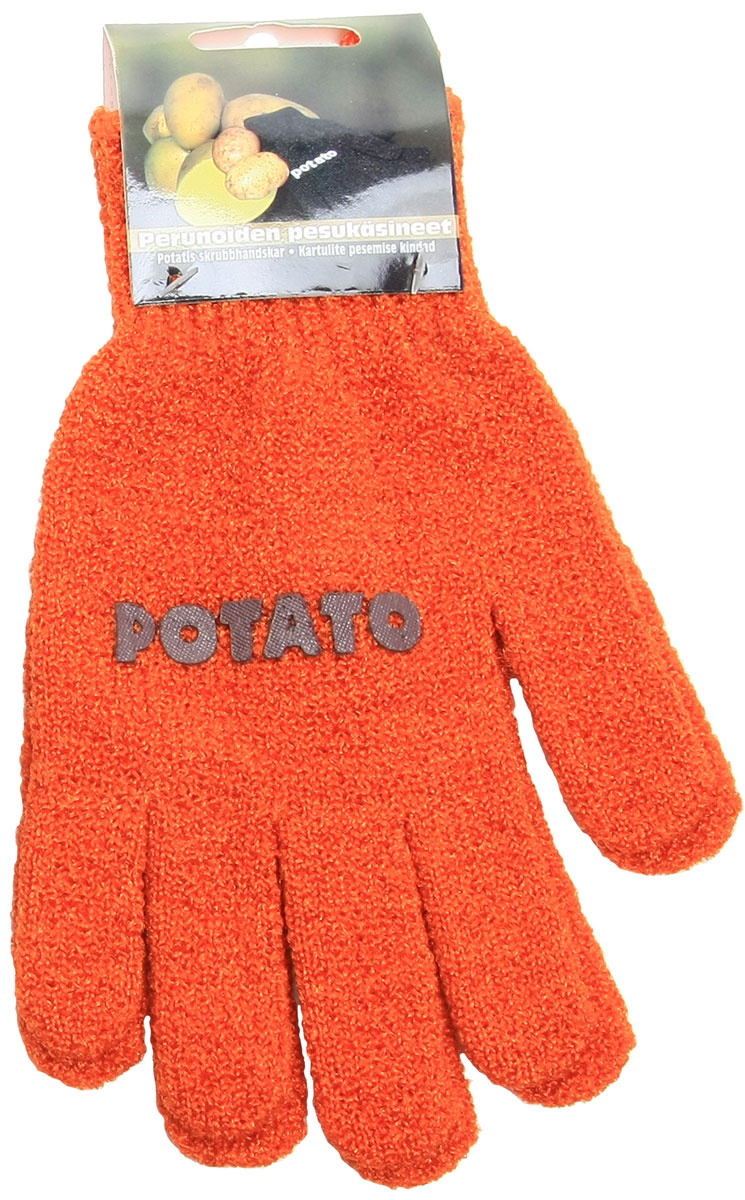 Перчатки хозяйственные Natura, для чистки молодого картофеля и овощей, цвет: оранжевый182327ор, оранжевыйПерчатки Natura предназначены для чистки молодого картофеля, моркови и других овощей. Перчатки не разрушают структуру овощей, сберегая все микроэлементы и витамины. Перчатки для чистки овощей имеет рельефную поверхность, которая воздействует на овощи как терка, но не окисляют продукт. Достаточно надеть перчатки и вымыть овощи под проточной водой, тщательно потерев его круговыми движениями. Таким образом, рутинное занятие превращается в легкий и быстрый процесс, а руки при этом остаются чистыми и ухоженными. Перчатки подходят как женщинам, так и мужчинам (универсальный размер). Легко стираются. Материал: 90% нейлон, 10% спандекс.