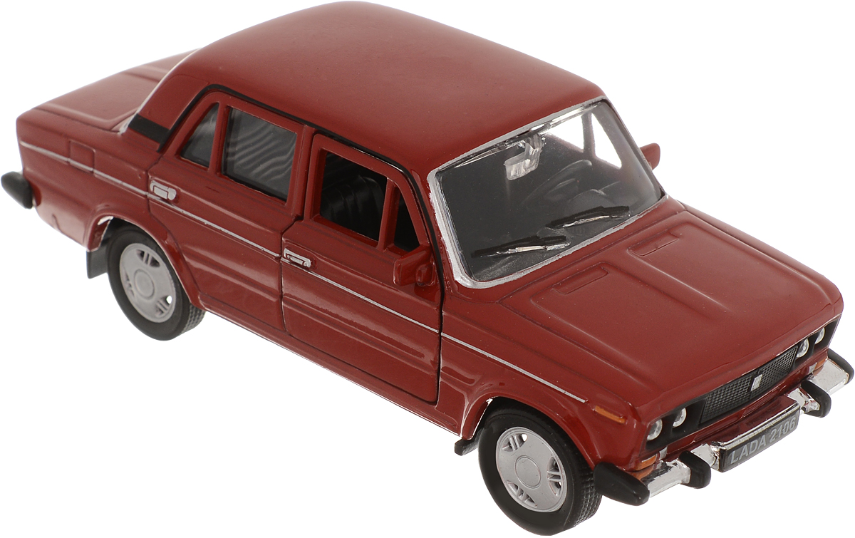 Welly Модель автомобиля LADA 2106 цвет красный welly модель автомобиля audi q7 цвет серый