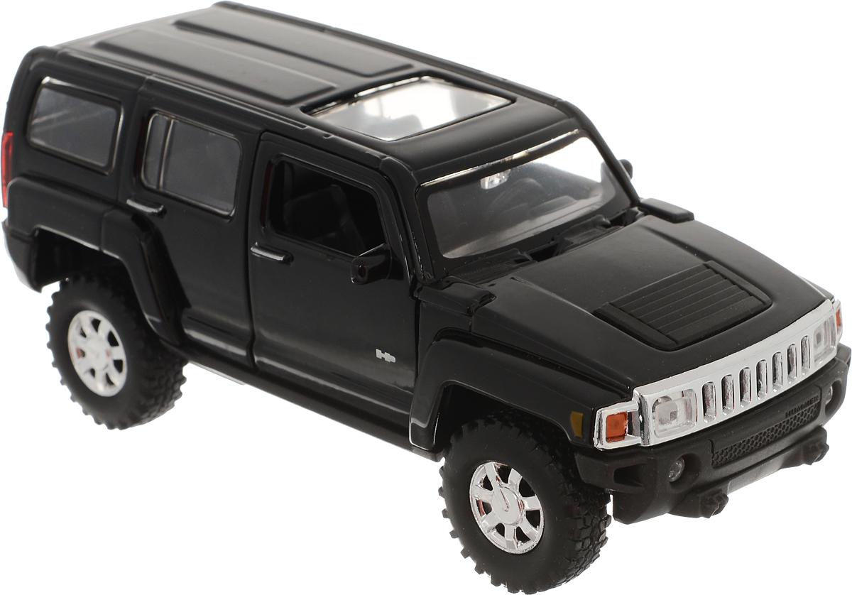 Welly Модель автомобиля Hummer H3 цвет черный welly модель автомобиля audi r8 v10 цвет красный