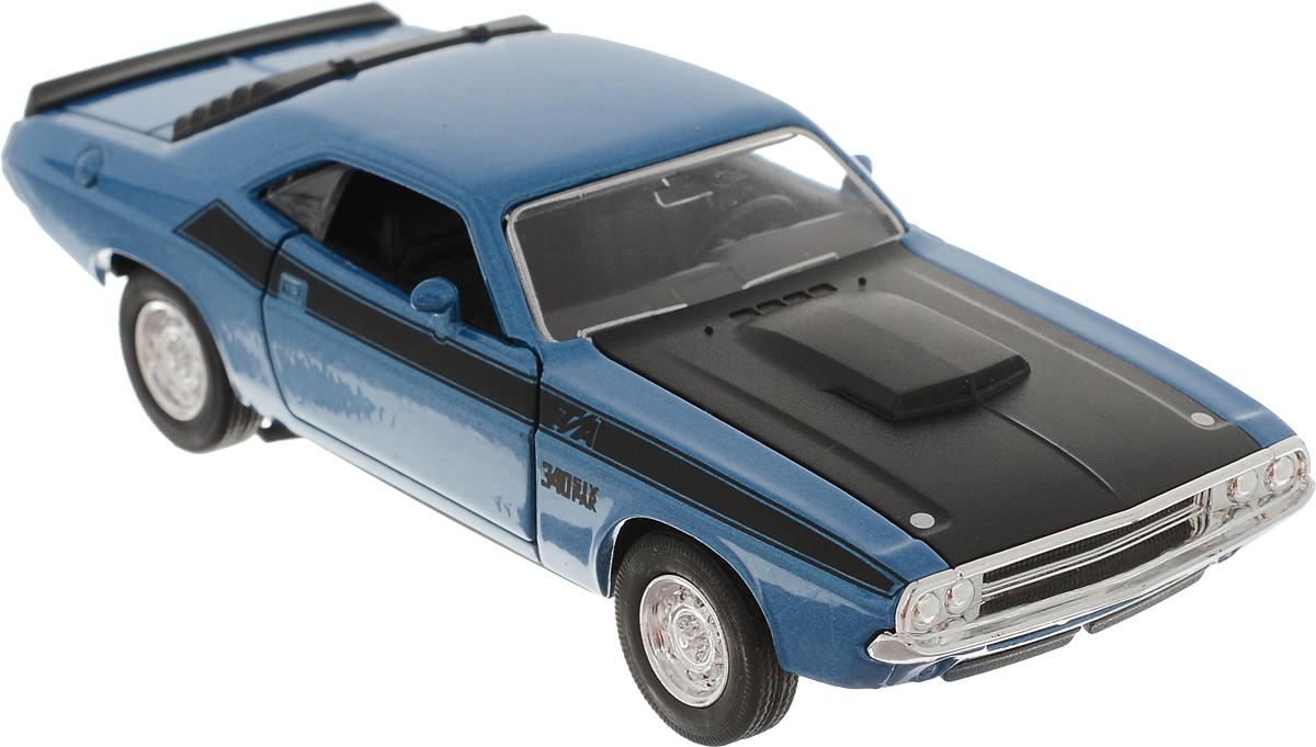Welly Модель автомобиля Dodge Challenger 1970 цвет синий welly модель автомобиля dodge challenger 1970 цвет молочный