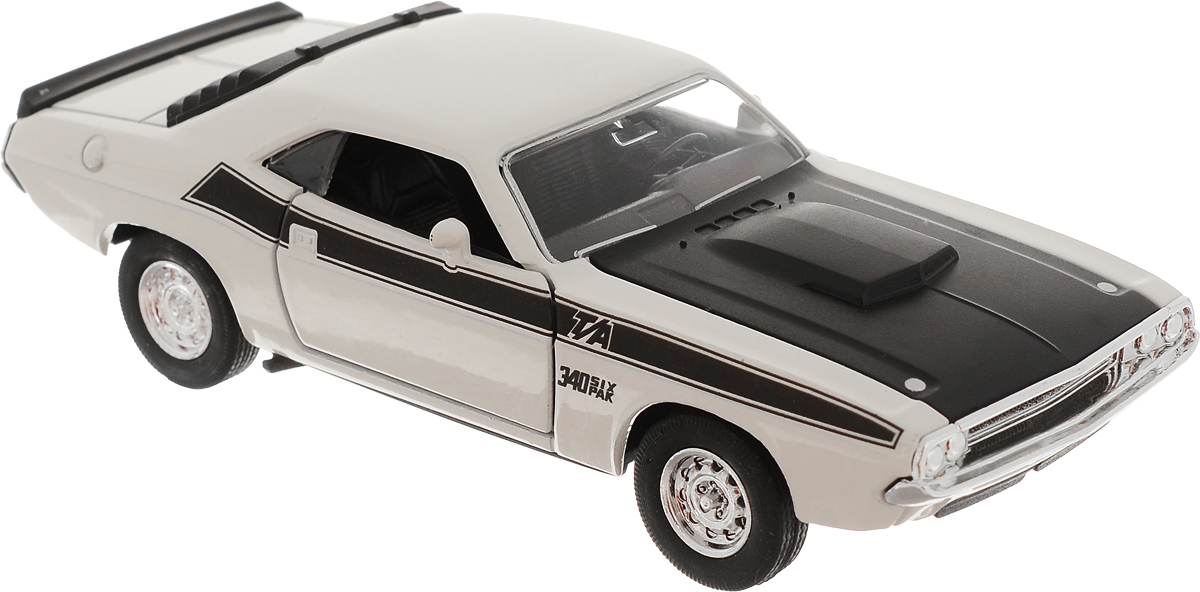 Welly Модель автомобиля Dodge Challenger 1970 цвет молочный welly модель автомобиля dodge challenger 1970 цвет молочный