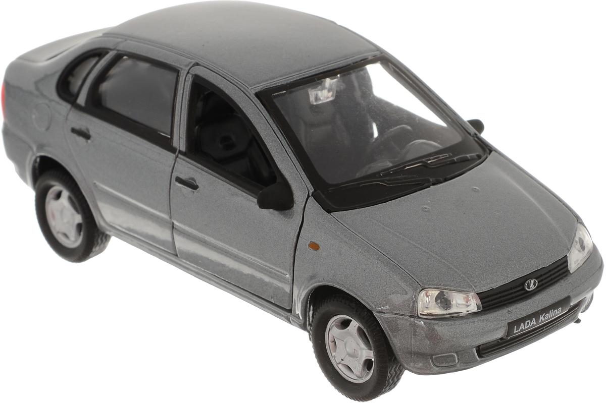 Welly Модель автомобиля LADA Kalina цвет серый машина welly lada vesta такси 43727ti