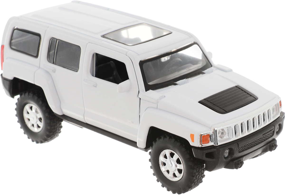 Welly Модель автомобиля Hummer H3 цвет белый welly модель автомобиля audi r8 v10 цвет красный