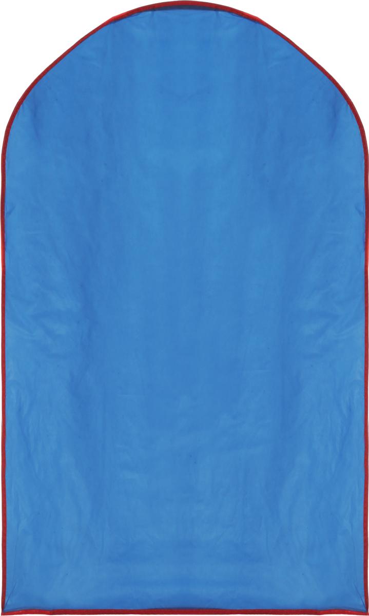 Чехол для одежды Home Queen, накидной, 60 х 100 см53342_синийЧехол для одежды Home Queen изготовлен из прочной непромокаемой ткани - полиэтиленвинилацетата. Чехол защитит одежду от влаги, пыли и грязи, механических воздействий и насекомых при хранении и транспортировке. Изделие является накидным и оснащено отверстием под вешалку.