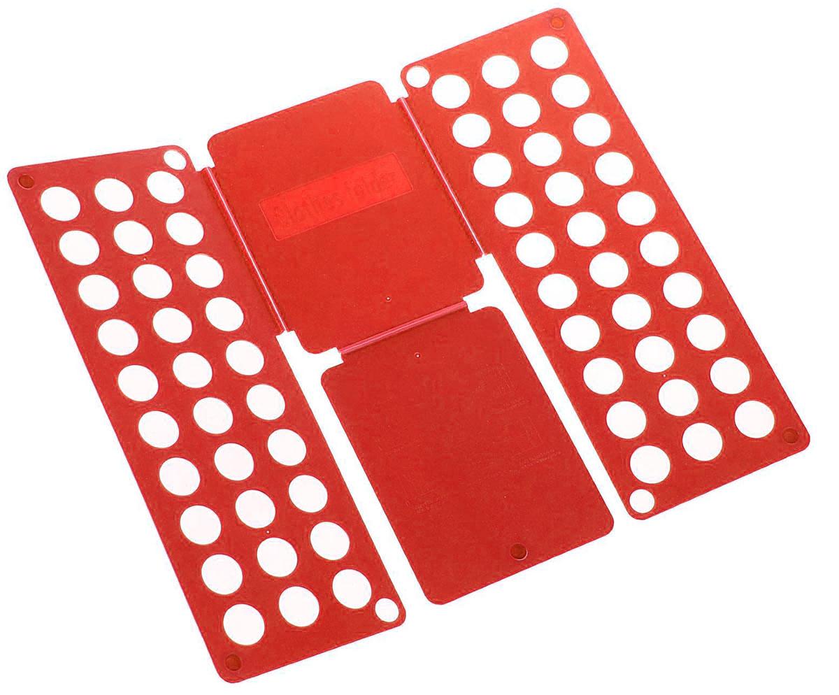 Приспособление для складывания детской одежды Sima-land, цвет: красный1411846_красныйПриспособление для складывания одежды Sima-land поможетнавести порядок в вашем шкафу. С ним вы сможете быстро иаккуратно сложить вещи. Приспособление подходит дляскладывания полотенец, рубашек поло, вещей с короткими идлинными рукавами, футболок, штанов. Не подойдет длябольших размеров одежды. Приспособление выполнено изкачественного прочного пластика. Изделие компактноскладывается и не занимает много места при хранении. Размер в сложенном виде: 40 х 16 см. Размер в разложенном виде: 48 х 40 см.