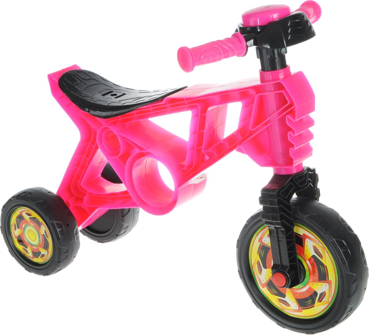 Орион Беговел детский 3-х колесный цвет розовый черный - Беговелы