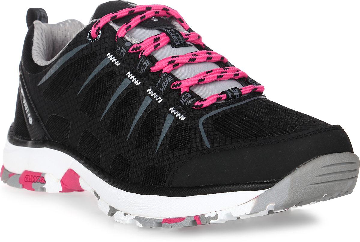 Кроссовки женские Icepeak, цвет: черный. 775207100IV. Размер 42 (41)775207100IVКроссовки женские Icepeak - идеальный вариант для теплой погоды. Модель на шнурках, изготовлена из сетчатой ткани во вставками из искусственной замши.