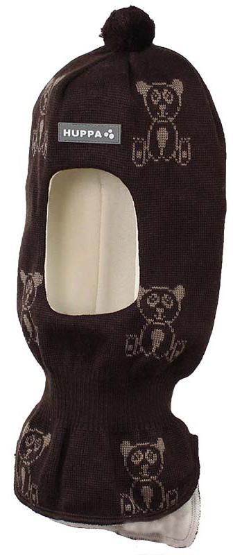 Шапка-шлем детская Huppa Kelda, цвет: черный, бежевый. 85120000-70181. Размер XS (43/45) шапка шлем детская huppa huppa шапка шлем kelda серый принт