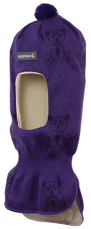 Шапка-шлем детская Huppa Kelda, цвет: фиолетовый, темно-фиолетовый. 85120000-70153. Размер XS (43/45) шапка шлем детская huppa huppa шапка шлем kelda серый принт
