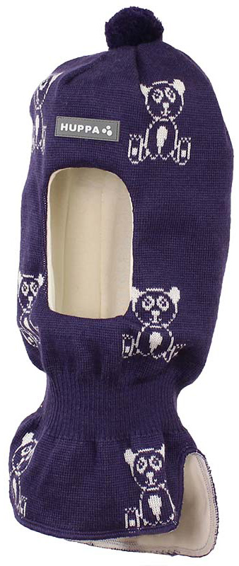 Шапка-шлем детская Huppa Kelda, цвет: темно-фиолетовый, белый. 85120000-70173. Размер M (51/53)85120000-70173Вязаная шапка-шлем Huppa Kelda выполнена из высококачественной пряжи из мериносовой шерсти и акрила. Подкладка выполнена из натурального хлопка и имеет комфортные плоские швы. Шейная часть шапки связана резинкой. В области ушей расположены утепленные вставки. Модель декорирована принтом с изображением мишек, небольшим помпоном на макушке и дополнена светоотражающим лейблом с логотипом бренда.Уважаемые клиенты! Обращаем ваше внимание на тот факт, что размер, доступный для заказа, является обхватом головы.