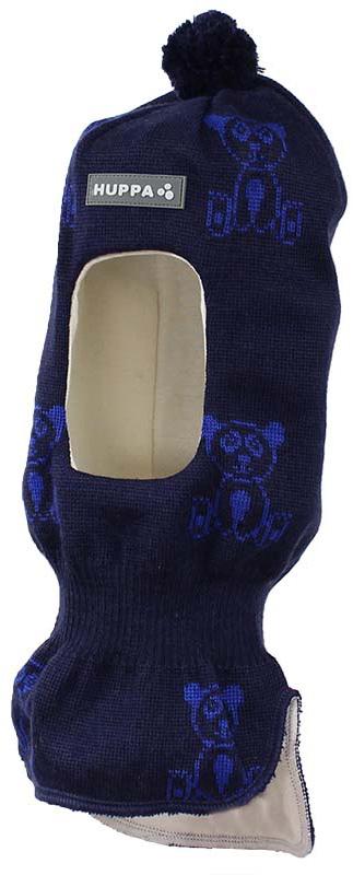 Шапка-шлем детская Huppa Kelda, цвет: темно-синий, синий. 85120000-70186. Размер XS (43/45) шапка шлем детская huppa huppa шапка шлем kelda серый принт