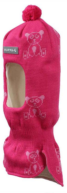 Шапка-шлем детская Huppa Kelda, цвет: фуксия, розовый. 85120000-70163. Размер XS (43/45) шапка шлем детская huppa huppa шапка шлем kelda серый принт