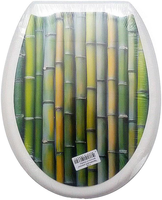Сиденье для унитаза DeLuxe Бамбук, 45 х 37 см109Сидение для унитаза DeLuxe Бамбук выполнено из полипропилен (пластик) и оформлено красочным рисунком с изображением стеблей бамбука. Рисунок на поверхности нанесен с помощью высококачественной пленки, стоек к истиранию и долговечен. Сидение легко мыть. Фотопринты повторяют дизайны противоскользящих ковриков.В комплекте четыре пластиковые опоры, расстояние между центрами крепежа 150-170 мм. Такое сиденье стильно дополнит интерьер вашей ванной или туалетной комнаты.Размер сиденья: 45 х 37 см.