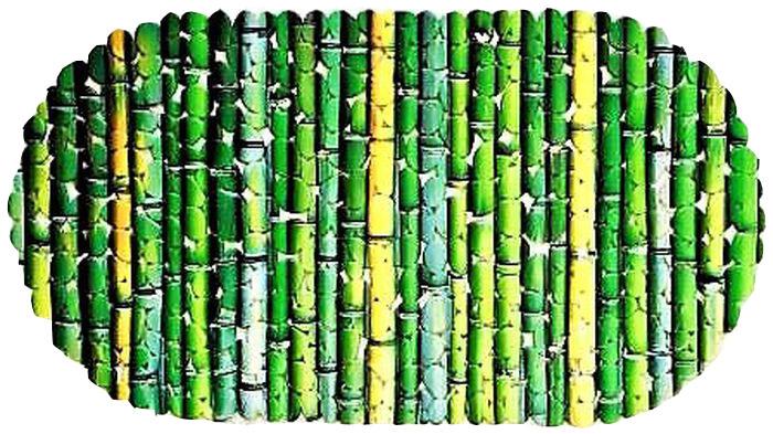 Коврик для ванной DeLuxe Бамбук, противоскользящий, 67 х 36 см14-109Коврик противоскользящий DeLuxe Бамбук изготовлен из прочного ПВХ. Рельефная поверхность коврика предохраняет от падения. 104 присоски диаметром 15 мм, расположенных по всей нижней стороне коврика, способствуют плотному прилеганию к поверхности ванн из любых материалов. Рисунок на лицевой поверхности нанесен с помощью высококачественной пленки, стоек к истиранию, долговечен. Коврик легко мыть.