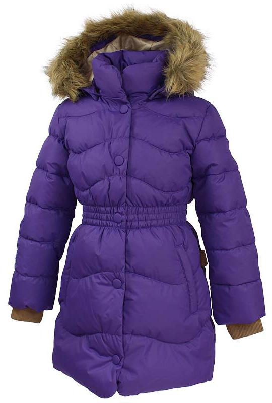 Пальто для девочки Huppa Beata 1, цвет: лилoвый. 17930155-70053. Размер 122