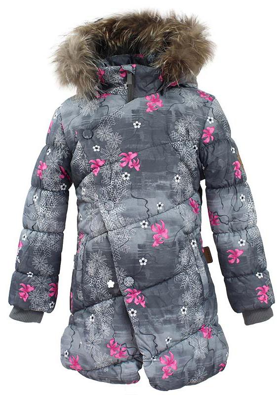 Куртка для девочки Huppa Rosa 1, цвет: серый. 17910130-71348. Размер 14017910130-71348Теплая куртка для девочки Huppa идеально подойдет для ребенка в холодное время года. Куртка изготовлена из 100% полиэстера. Вес утеплителя - 300 г.Куртка с капюшоном застегивается на пластиковую застежку-молнию и кнопки. Капюшон, декорированный мехом, защитит нежные щечки от ветра. Предусмотрены светоотражающие элементы для безопасности ребенка в темное время суток.