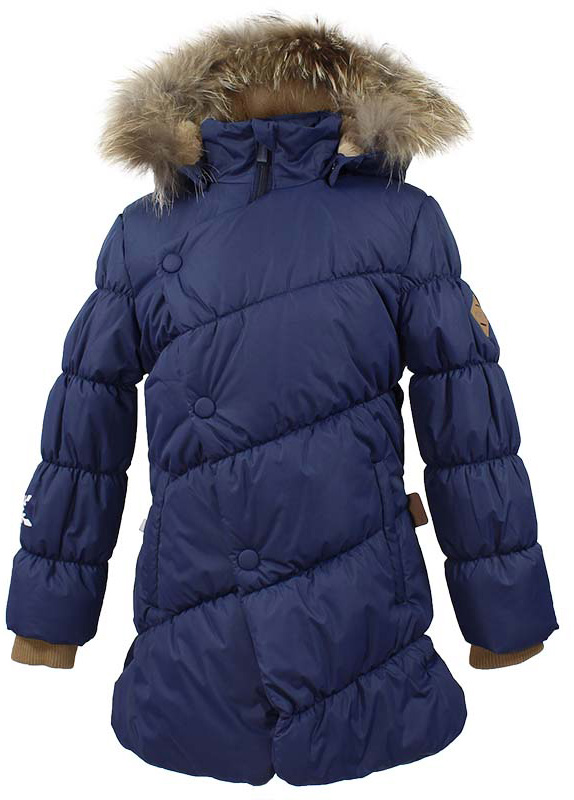 Куртка для девочки Huppa Rosa 1, цвет: темно-синий. 17910130-70086. Размер 14017910130-70086Теплая куртка для девочки Huppa идеально подойдет для ребенка в холодное время года. Куртка изготовлена из 100% полиэстера. Вес утеплителя - 300 г.Куртка с капюшоном застегивается на пластиковую застежку-молнию и кнопки. Капюшон, декорированный мехом, защитит нежные щечки от ветра. Предусмотрены светоотражающие элементы для безопасности ребенка в темное время суток.
