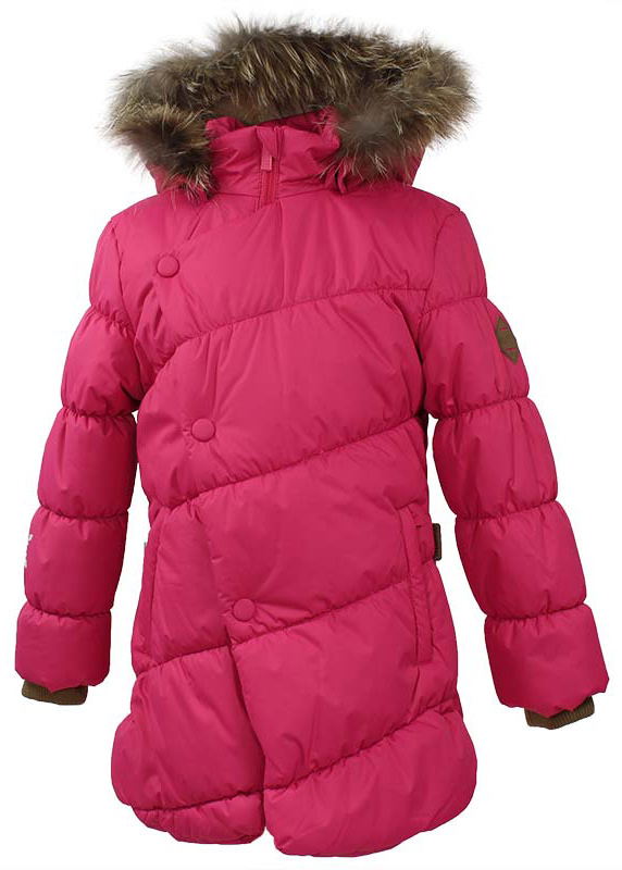 Куртка для девочки Huppa Rosa 1, цвет: фуксия. 17910130-70063. Размер 14617910130-70063Теплая куртка для девочки Huppa идеально подойдет для ребенка в холодное время года. Куртка изготовлена из 100% полиэстера. Вес утеплителя - 300 г.Куртка с капюшоном застегивается на пластиковую застежку-молнию и кнопки. Капюшон, декорированный мехом, защитит нежные щечки от ветра. Предусмотрены светоотражающие элементы для безопасности ребенка в темное время суток.