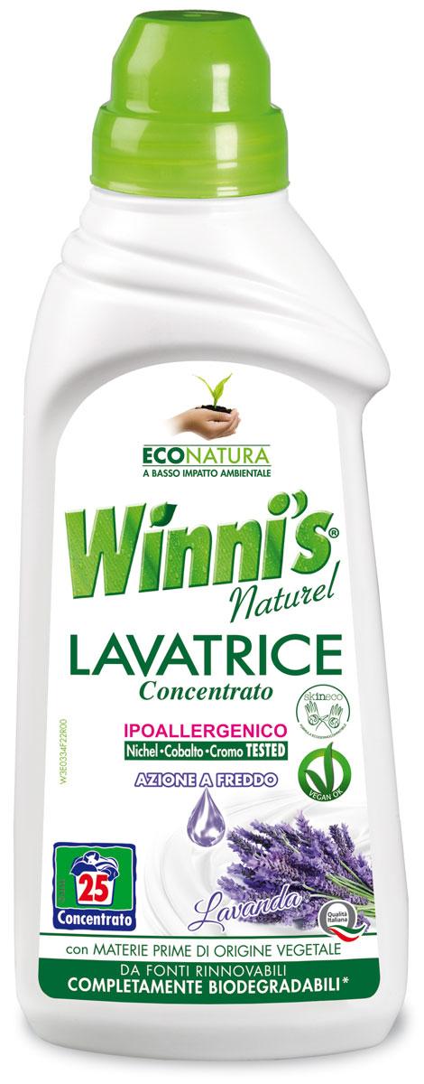 Средство для стирки Winnis Naturel, концентрат, с ароматом лаванды, 750 мл4086Жидкое средство для стирки Winnis Naturel в своем составе содержит сырье растительногопроисхождения, благодаря чему подходит для аллергиков. Является экологически чистымпродуктом. Упаковка полностью пригодна для вторичной переработки. Оставляет приятныйзапах лаванды. Хватает на 30 стирок.Товар сертифицирован.