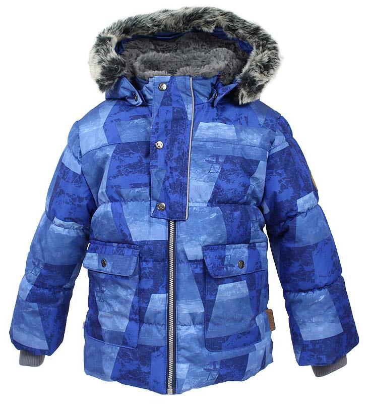 Куртка детская Huppa Oliver, цвет: синий. 17900030-72435. Размер 11617900030-72435Детская куртка Huppa изготовлена из водонепроницаемого полиэстера. Куртка застегивается на застежку-молнию и кнопки. Модель дополнена отстегивающимся капюшоном с мехом. У модели имеются два накладных кармана с клапанами на кнопках. Изделие дополнено светоотражающими элементами.