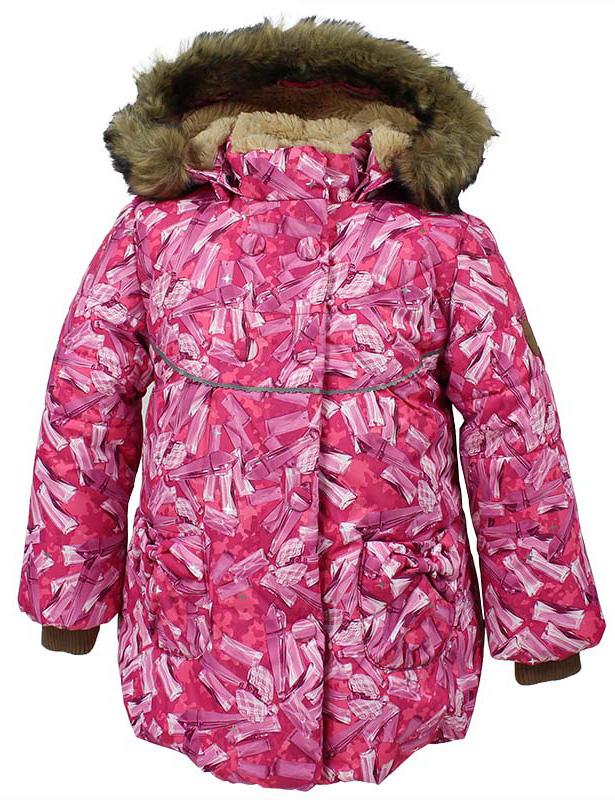 Куртка для девочки Huppa Olivia, цвет: фуксия. 17890030-71463. Размер 11617890030-71463Куртка для девочки Huppa изготовлена из водонепроницаемого полиэстера. Куртка застегивается на застежку-молнию и кнопки. Модель дополнена отстегивающимся капюшоном с мехом. Изделие дополнено светоотражающими элементами.