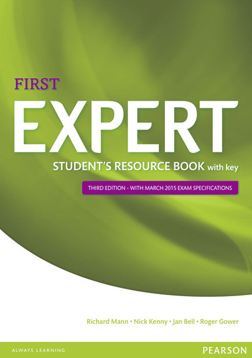 Expert First Student's Resource Book with Key expert ielts 7 5 students resource book without key