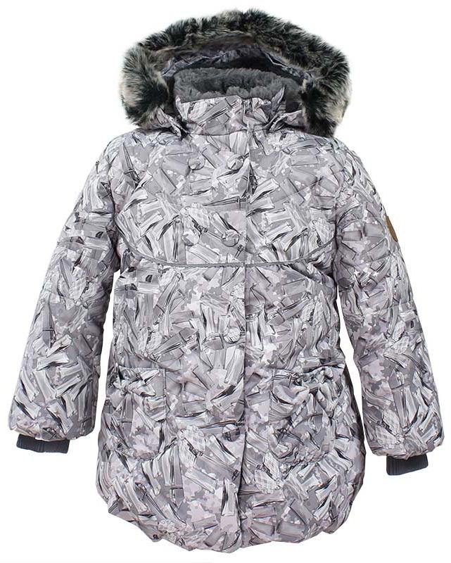 Куртка для девочки Huppa Olivia, цвет: белый. 17890030-71420. Размер 11617890030-71420Куртка для девочки Huppa изготовлена из водонепроницаемого полиэстера. Куртка застегивается на застежку-молнию и кнопки. Модель дополнена отстегивающимся капюшоном с мехом. Изделие дополнено светоотражающими элементами.