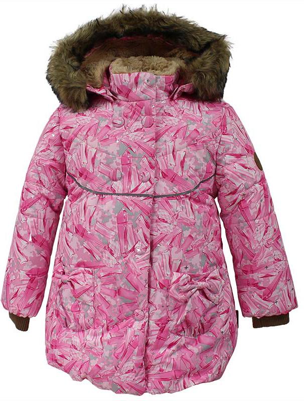 Куртка для девочки Huppa Olivia, цвет: розовый. 17890030-71413. Размер 12217890030-71413Куртка для девочки Huppa изготовлена из водонепроницаемого полиэстера. Куртка застегивается на застежку-молнию и кнопки. Модель дополнена отстегивающимся капюшоном с мехом. Изделие дополнено светоотражающими элементами.
