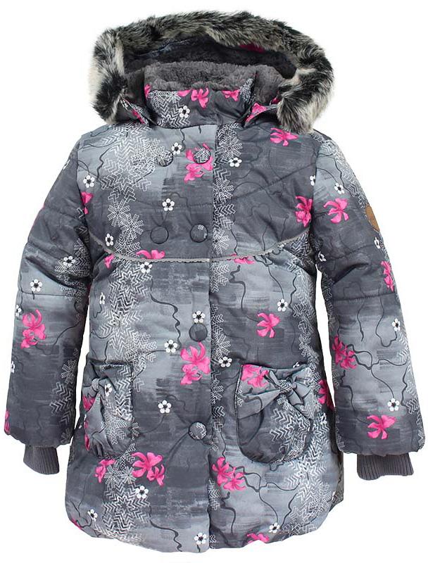 Куртка для девочки Huppa Olivia, цвет: серый. 17890030-71348. Размер 12217890030-71348Куртка для девочки Huppa изготовлена из водонепроницаемого полиэстера. Куртка застегивается на застежку-молнию и кнопки. Модель дополнена отстегивающимся капюшоном с мехом. Изделие дополнено светоотражающими элементами.