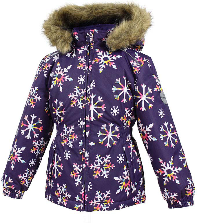 Куртка для девочки Huppa Marii, цвет: темно-лилoвый. 17830030-71673. Размер 9817830030-71673Теплая куртка для девочки Huppa идеально подойдет для ребенка в холодное время года. Куртка изготовлена из 100% полиэстера. Вес утеплителя - 300 г.Куртка с капюшоном застегивается на пластиковую застежку-молнию. Капюшон, декорированный мехом, защитит нежные щечки от ветра. Спереди расположены два прорезных кармашка. Оформлено изделие оригинальным принтом.Предусмотрены светоотражающие элементы для безопасности ребенка в темное время суток.