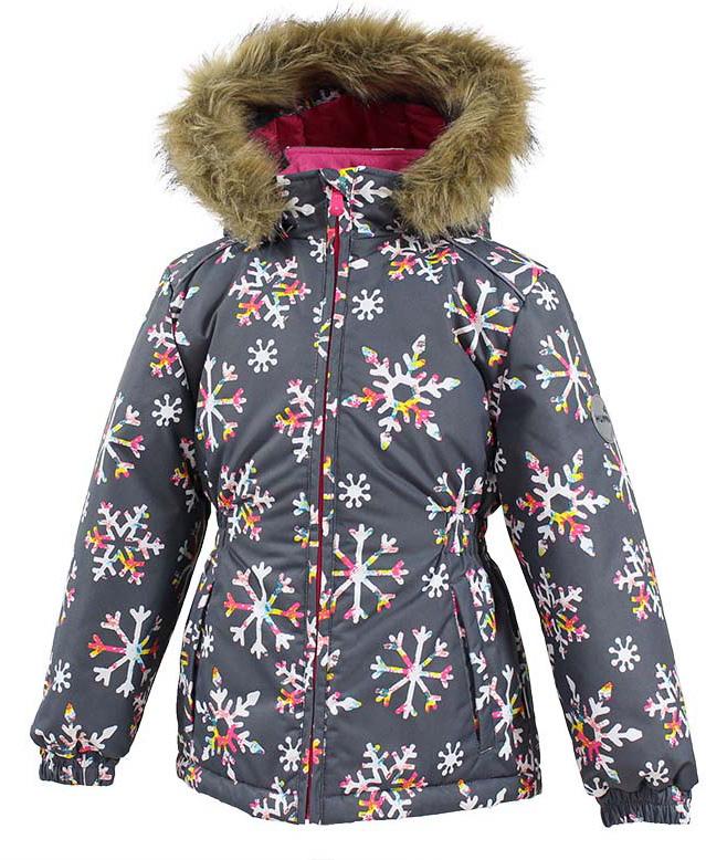 Куртка для девочки Huppa Marii, цвет: темно-серый. 17830030-71648. Размер 12817830030-71648Куртка для девочки Huppa Marii выполнена из водо- и воздухонепроницаемого материала - полиэстера. Утеплитель из полиэстера и подкладка из флиса не дадут замерзнуть. Модель с воротником-стойкой и отстегивающимся капюшоном с мехом застегивается на застежку-молнию. Манжеты рукавов и область талии модели присборены на резинки. Спереди расположены прорезные карманы. Светоотражающие детали обеспечат безопасность вашего ребенка в темное время суток.
