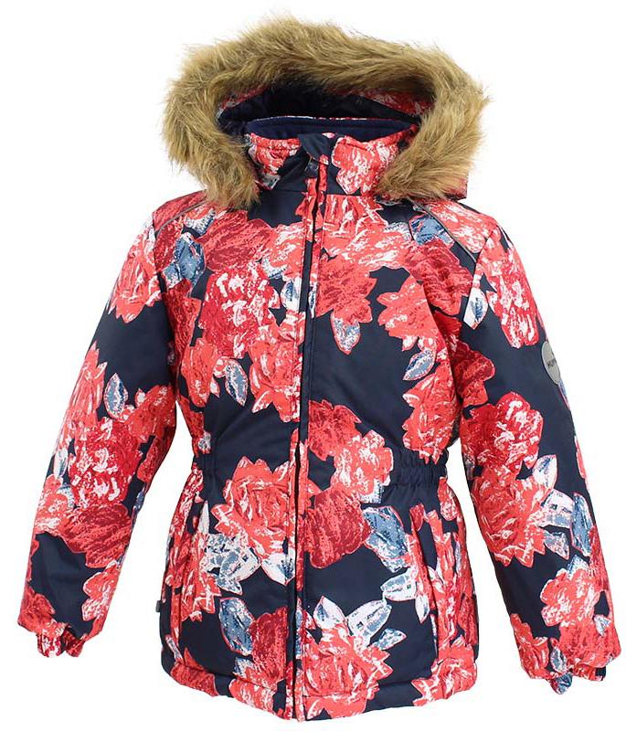 Куртка для девочки Huppa Marii, цвет: темно-синий. 17830030-71586. Размер 9817830030-71586Теплая куртка для девочки Huppa идеально подойдет для ребенка в холодное время года. Куртка изготовлена из 100% полиэстера. Вес утеплителя - 300 г.Куртка с капюшоном застегивается на пластиковую застежку-молнию. Капюшон, декорированный мехом, защитит нежные щечки от ветра. Спереди расположены два прорезных кармашка. Оформлено изделие оригинальным принтом.Предусмотрены светоотражающие элементы для безопасности ребенка в темное время суток.
