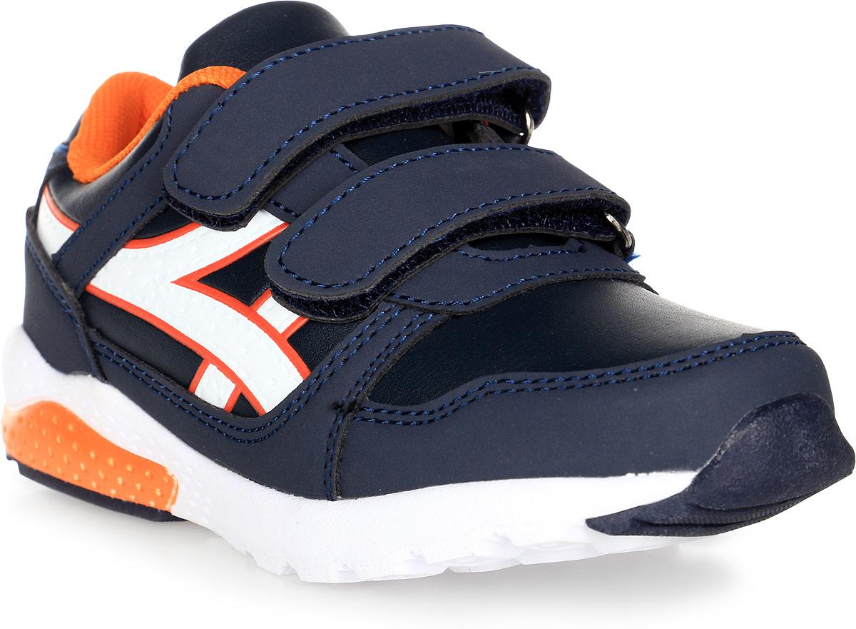 Кроссовки для мальчика BiKi, цвет: синий. А-B25-49-D. Размер 27А-B25-49-DКроссовки от фирмы BiKi выполнены из искусственной кожи и оформлены прострочкой, контрастными вставками по бокам. Застежки-липучки обеспечивают надежную фиксацию обуви на ноге ребенка. Подкладка выполнена из текстиля и натуральной кожи, что предотвращает натирание и гарантирует уют. Подошва с рифлением обеспечивает идеальное сцепление с любыми поверхностями. Стильные и удобные кроссовки - незаменимая вещь в гардеробе каждого ребенка.